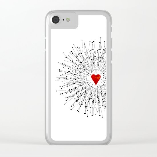 Heart&Arrows Clear iPhone Case