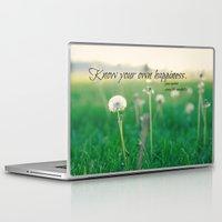 jane austen Laptop & iPad Skins featuring Happiness Jane Austen by KimberosePhotography