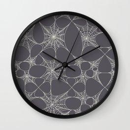 Spiderweb Pattern in Black Wall Clock