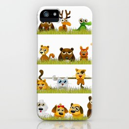 Adorable Zoo animals iPhone Case