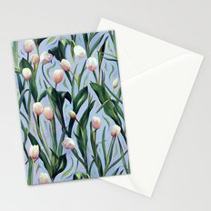 Waiting on the Blooming - a Tulip Pattern Stationery Cards