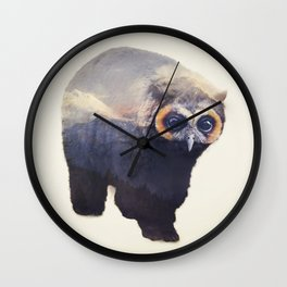 Owlbear in Mountains Wall Clock