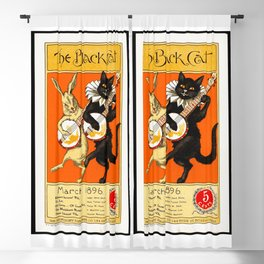1896 Vintage Book Publishing Poster Blackout Curtain