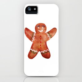 Gingerbread man Cookie iPhone Case