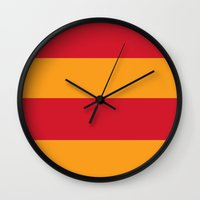 gryffindor Wall Clocks featuring Gryffindor by Yajaira Gomez