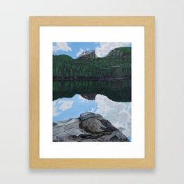 Reflections at Bear Lake Framed Art Print