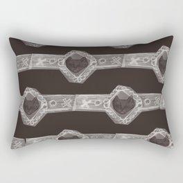 Cat jewelry brooch Rectangular Pillow