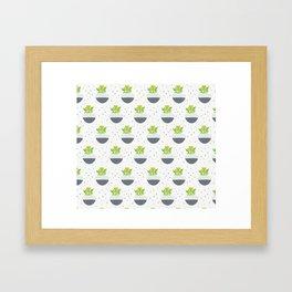 Potted Kalanchoe Plant Mom Pattern Framed Art Print