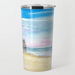 Outer Banks House At the Sea Travel Mug