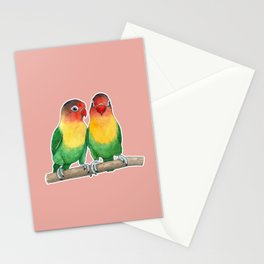 Fischer's lovebirds Stationery Cards
