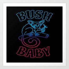 Bush Baby Galagos Galagonidae Monkey Art Print