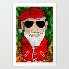 Santa Matryoshka / Nesting Doll  Матрешка Дед Мороз Art Print