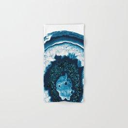 Blue White Agate with Blue Glitter #1 #gem #decor #art #society6 Hand & Bath Towel