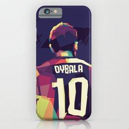 Paulo Dybala on WPAP Pop Art Portrait iPhone Case