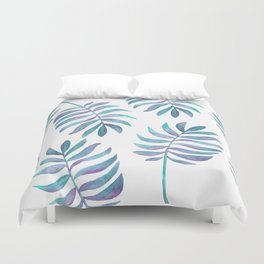 Wild, Barefoot & Free - Palm Leaf Quote Duvet Cover