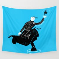 bull Wall Tapestries featuring Mechanical Bull by Oliver Lake