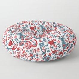 Scandinavian Folk Floor Pillow