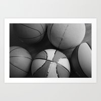 basketball Art Prints featuring Basketball by Sary and Saff