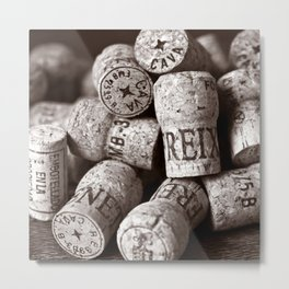 Cork of Champagne - Brown Duplex Metal Print