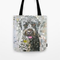 ginger Tote Bags featuring Ginger by Maritza Hernandez