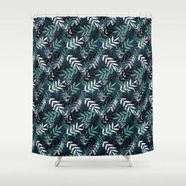 Blue Messy Leaves #society6 #decor #buyart Shower Curtain