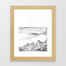 Pen & Ink Beach Framed Art Print