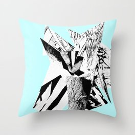 Light Blue Glitch Scrunch Throw Pillow