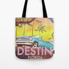 Destin Florida USA vintage style travel poster Tote Bag