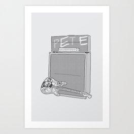 Billie Joe's Guitar Rig Art Print