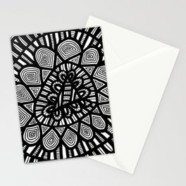 Black and White Doodle 7 Stationery Cards