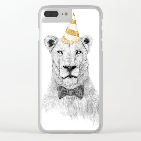 Get the party started (color) Clear iPhone Case