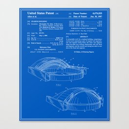Stadium Patent - Blueprint Canvas Print