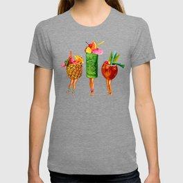 Tiki Cocktail Pin-Ups T-shirt