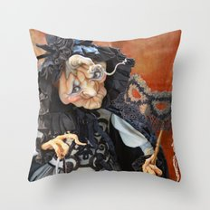 Rucus Studio Late to the Party - Pumpkin Lady Throw Pillow