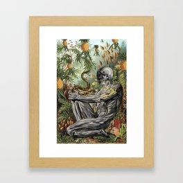 """bedelgeuse """"indomitable"""" anatomical collage art Framed Art Print"""