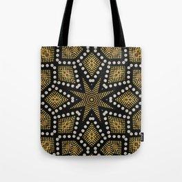 Black Gold   Geometric Tribal Tote Bag