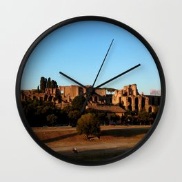 Roman ruin in Rome photography Wall Clock