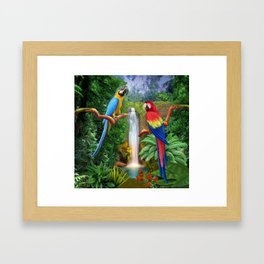 Macaw Tropical Parrots Framed Art Print