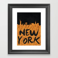 New York (Feat. Filipe Rolim) Framed Art Print