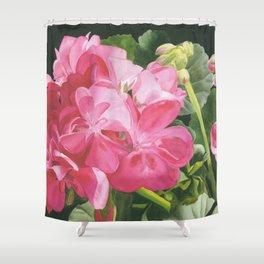 Loves Folly - Geraniums Shower Curtain