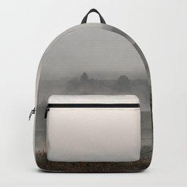 Foggy landscape Backpack