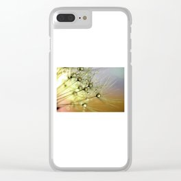 Dandelion & Droplets Clear iPhone Case