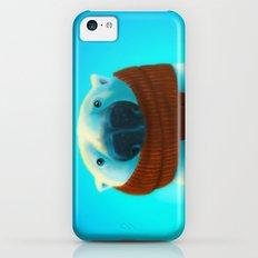 Polar bear with scarf iPhone 5c Slim Case