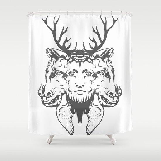 GOD II Shower Curtain
