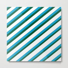 TEAM COLORS 1...LIGHT BLUE,GREEN Metal Print
