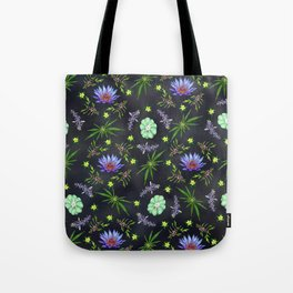 Smokeable Hallucinogenic Plants Pattern Tote Bag