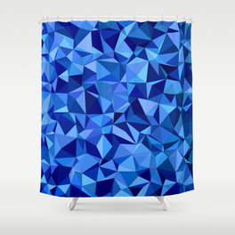 Blue tile mosaic Shower Curtain