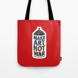 Make Art Not War (African print red) Tote Bag