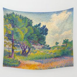 Small House at Saint Clair 1894 Henri-Edmond Cross Neo-Impressionism Pointillism Oil Painting Wall Tapestry