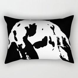 Black & White English Lop Rectangular Pillow